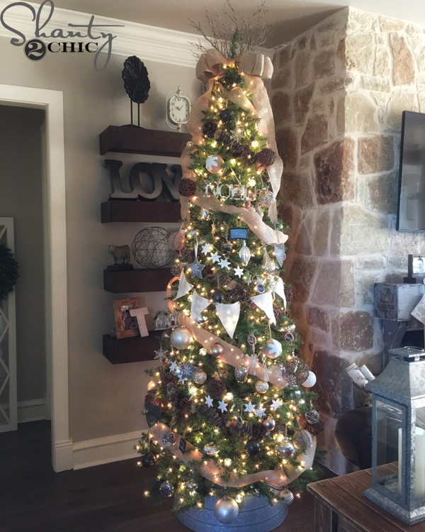Christmas Tree Decorating Ideas.How To Decorate A Rustic Christmas Tree Shanty 2 Chic
