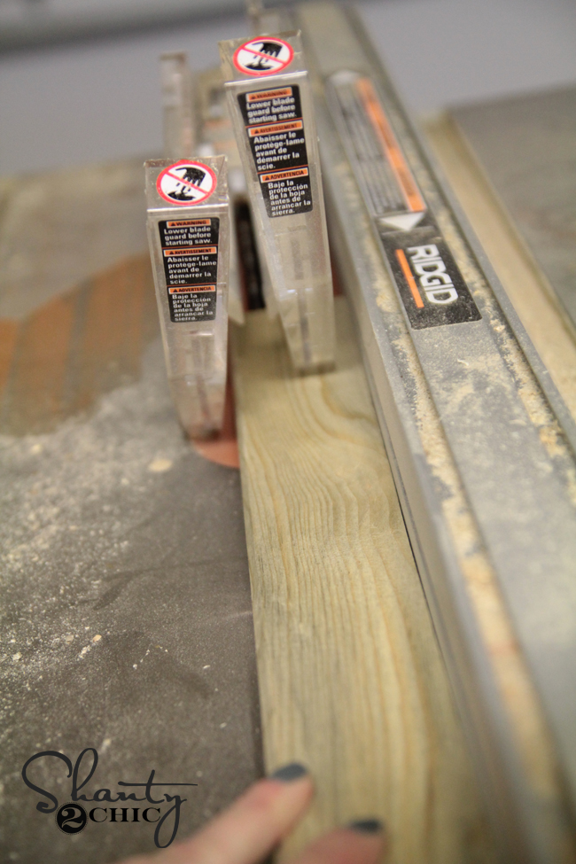 How to rip blue pine boards