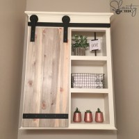 DIY Sliding Barn Door Bathroom Cabinet - Shanty 2 Chic