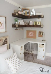 DIY Corner Desk - Shanty 2 Chic