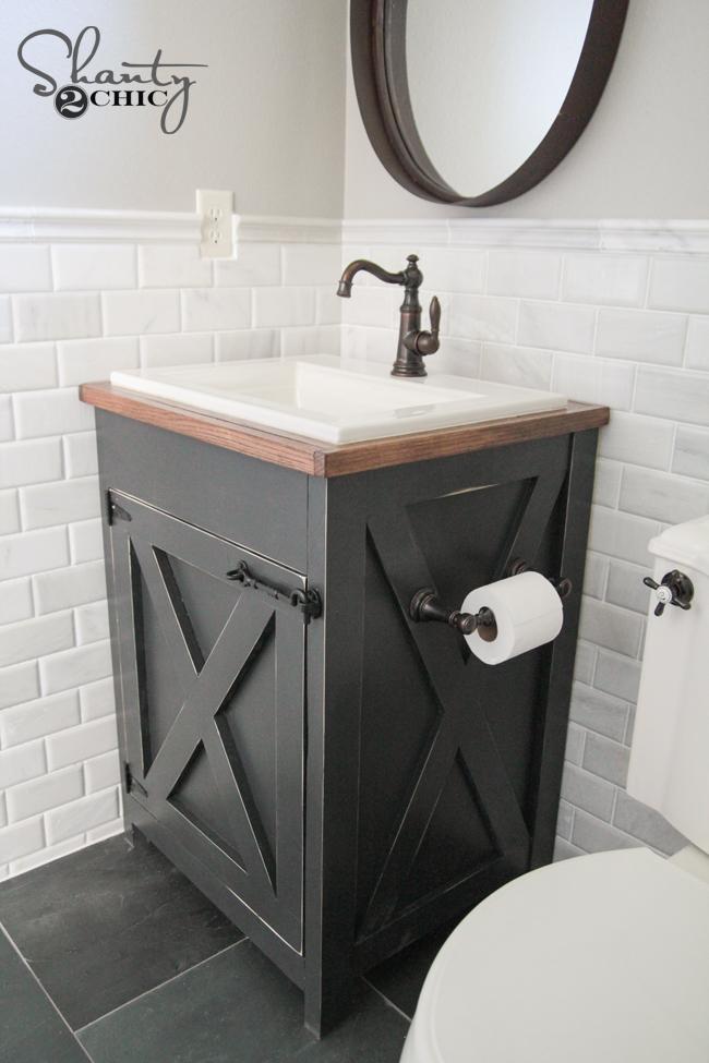 Free Bathroom Vanity Plans DIY