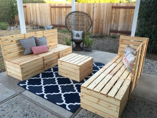 Diy Couple Tackle Outdoor Sectional Shanty 2 Chic