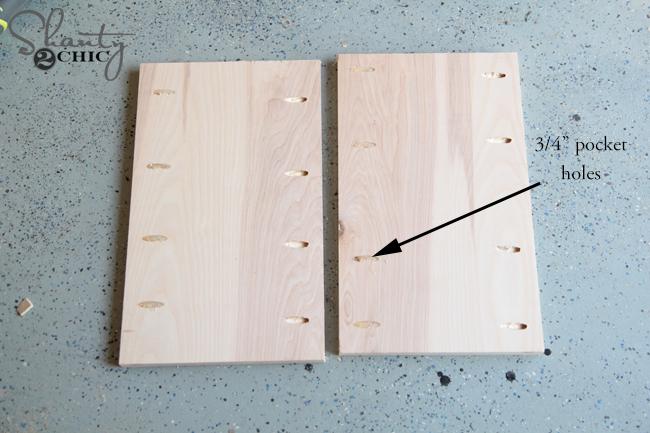 pocket holes for desk