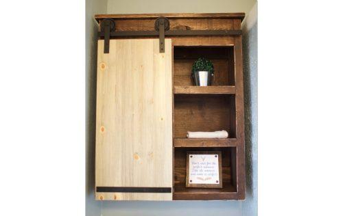 Sliding Barn Door Bathroom Cabinet - Shanty 2 Chic on