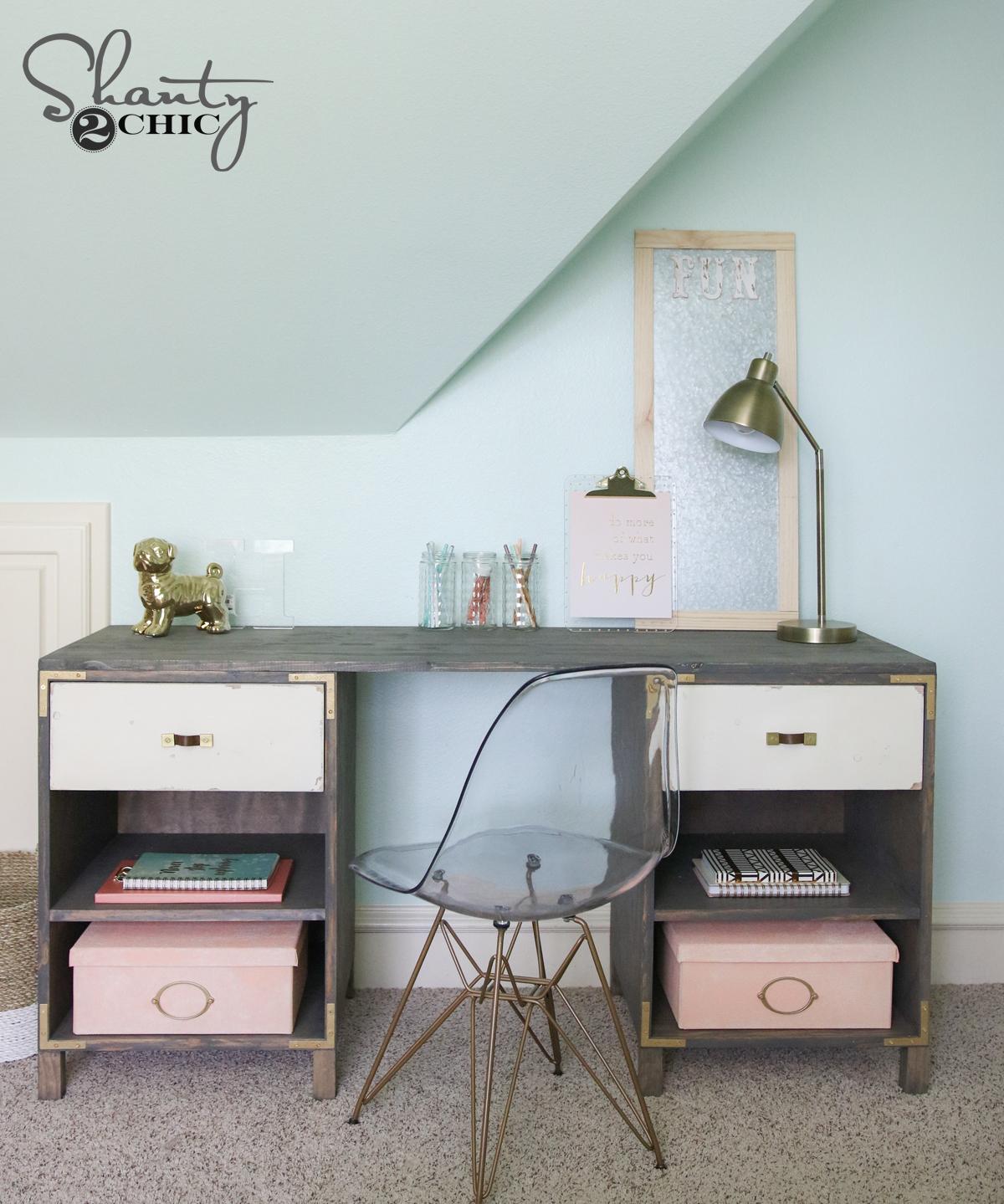DIY Cubby Storage Desk
