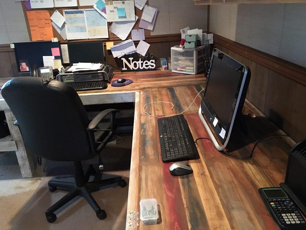 Rustic L Shaped Desk Shanty 2 Chic