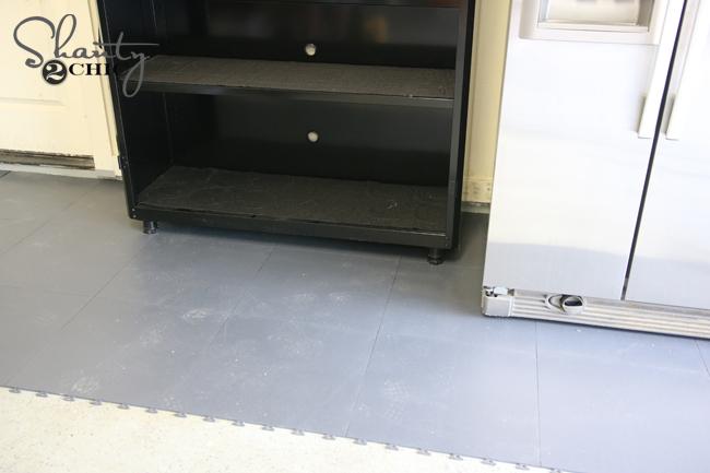 Garage Floor Tile Install