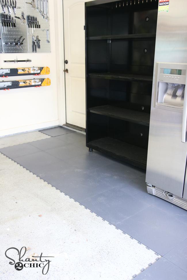 how to install garage floor tile