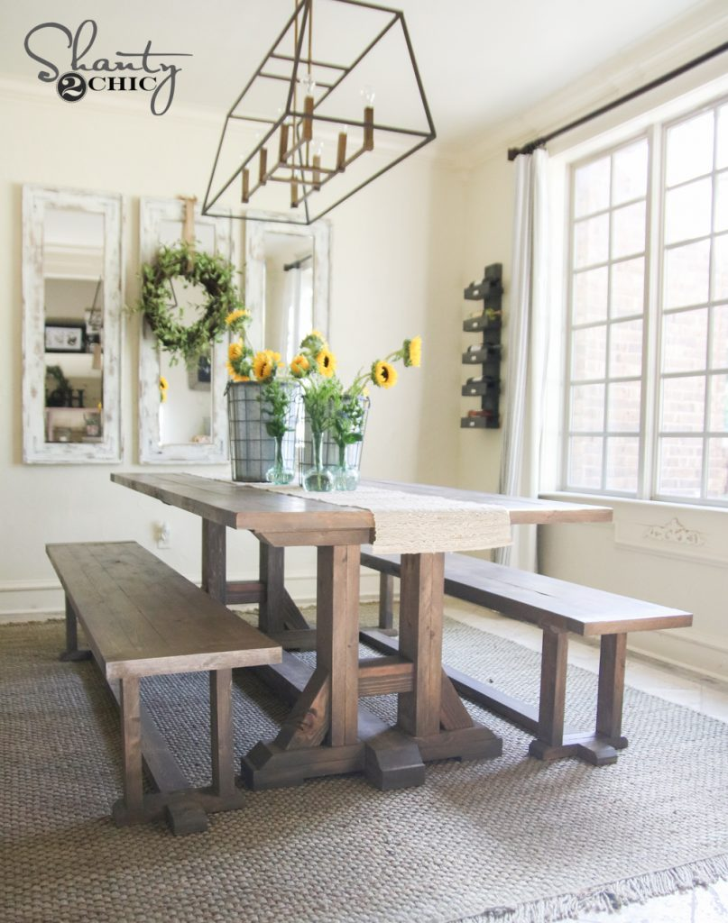 Picture of: Diy Farmhouse Dining Bench Plans And Tutorial Shanty 2 Chic