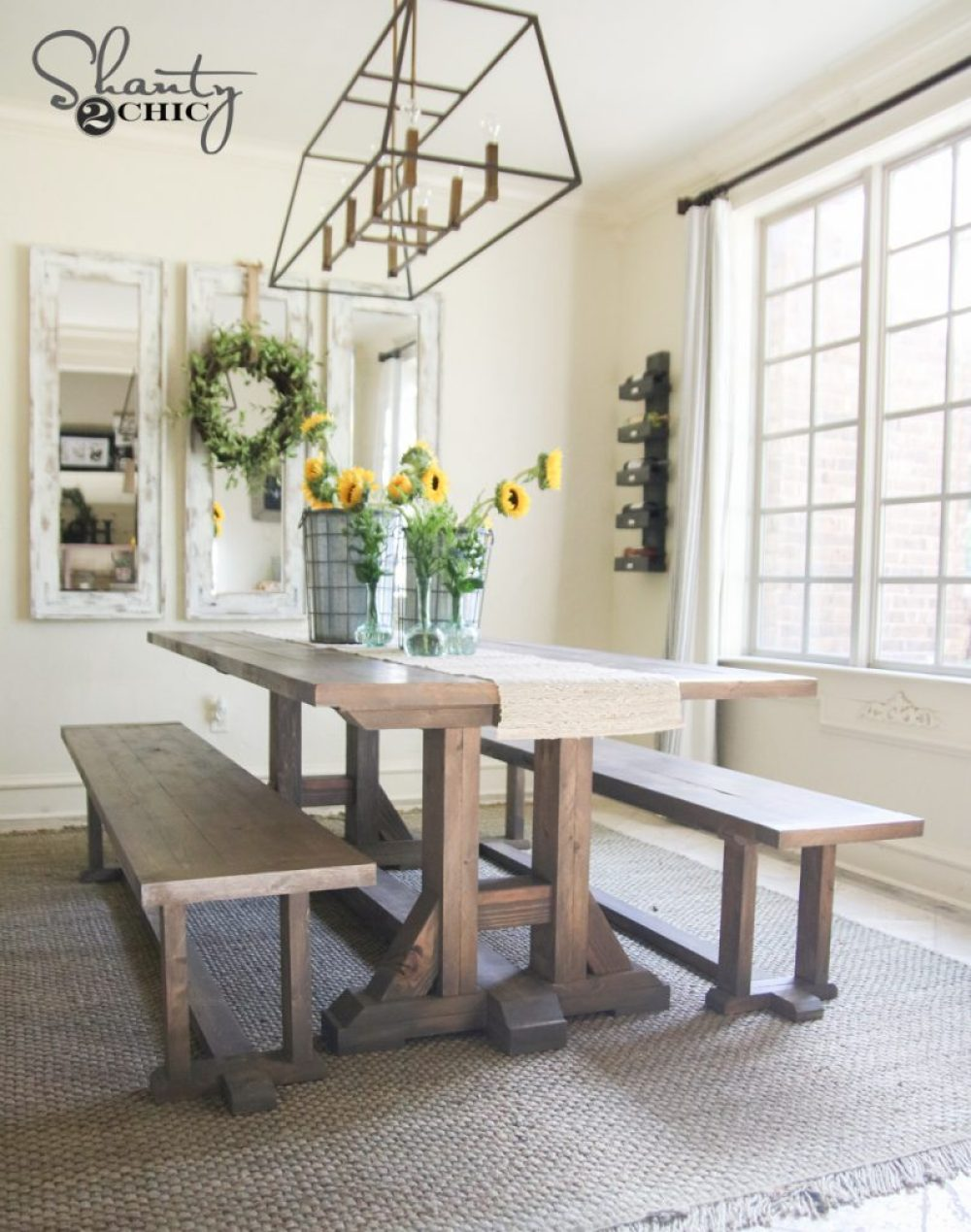 DIY Pottery Barn Inspired Dining Table for $5 - Shanty 5 Chic