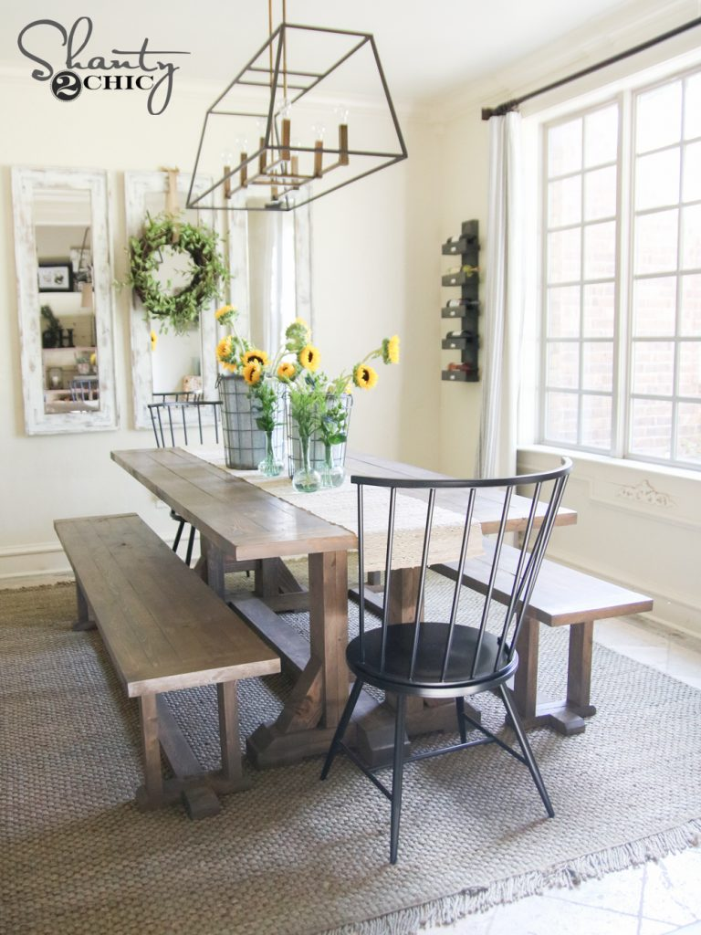 diy living room furniture plans sofa set for farmhouse dining bench and tutorial shanty 2 chic you can find the matching table here
