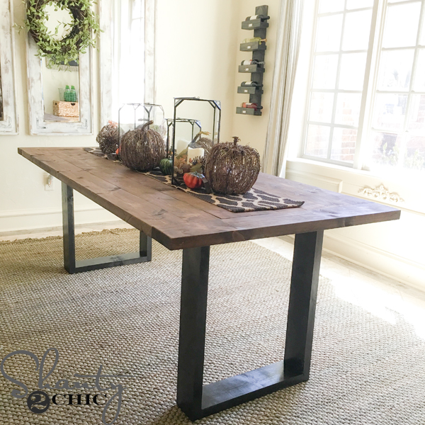 Build Dining Room Chairs: DIY Rustic Modern Dining Table