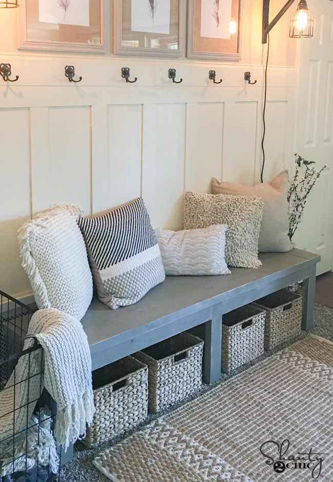 Fine Diy 25 Farmhouse Bench Youtube Video Shanty 2 Chic Pdpeps Interior Chair Design Pdpepsorg