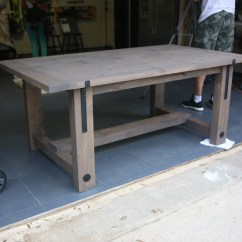 Kitchen Rug Runners Rubber Mat Diy Industrial Farmhouse Table And How-to Video - Shanty 2 ...