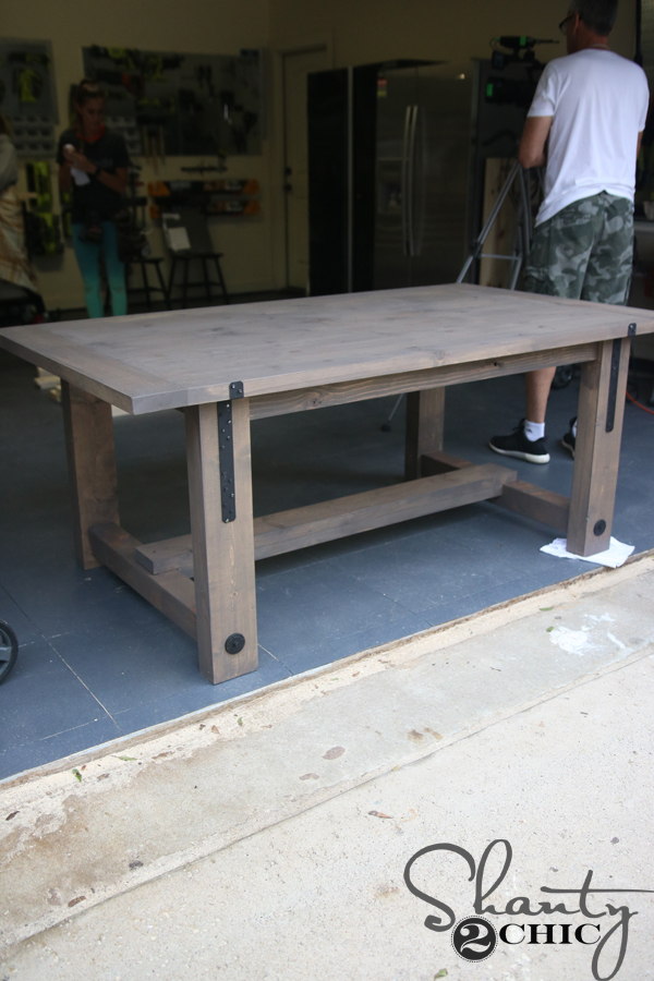 kitchen rug runners stone outdoor diy industrial farmhouse table and how-to video - shanty 2 ...
