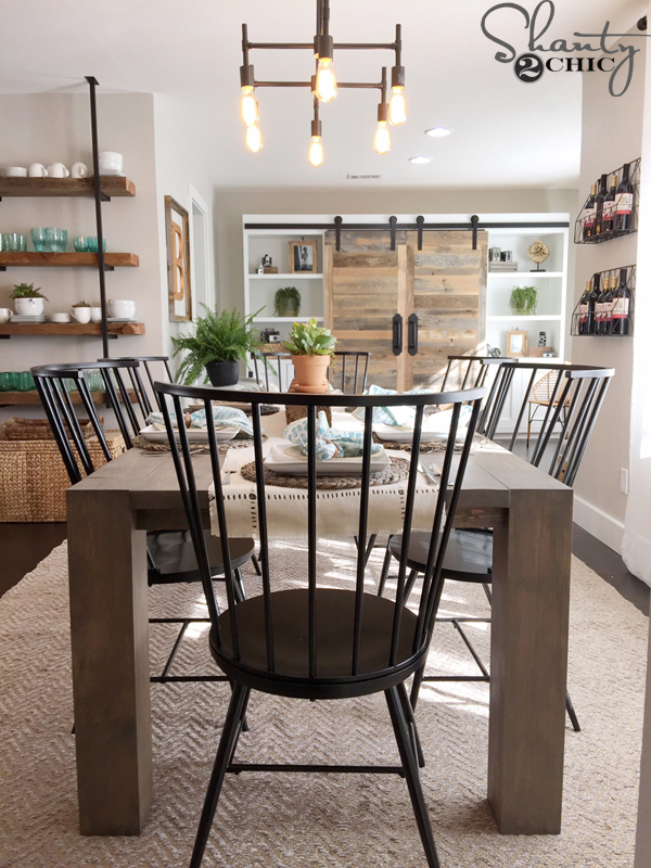 white dining room chairs target folding chair mattress rustic modern - shanty 2 chic