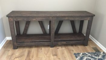 Pottery Barn Inspired Console Table Shanty 2 Chic