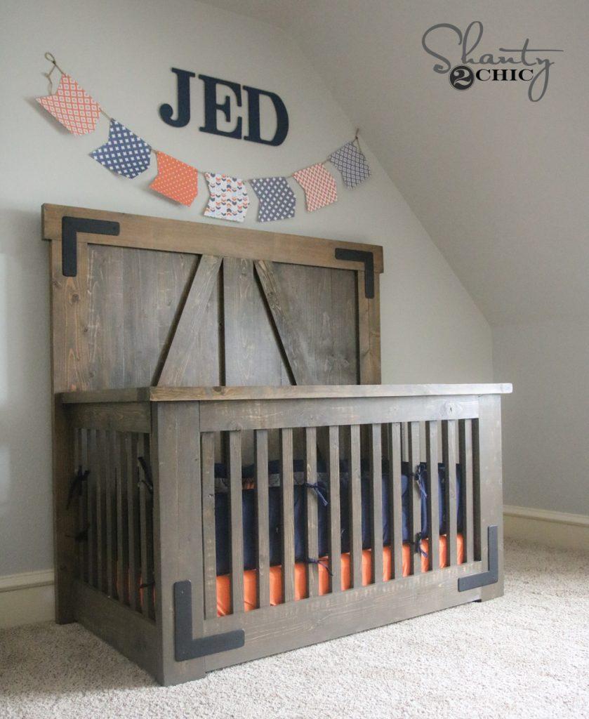 DIY Farmhouse Crib - Free Plans