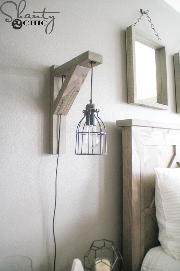 hanging chair for bedroom diy wood seat replacement parts corbel sconce light $25 - shanty 2 chic