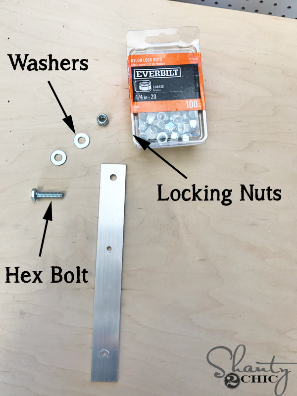 DIY Barn Door Hardware - the supplies