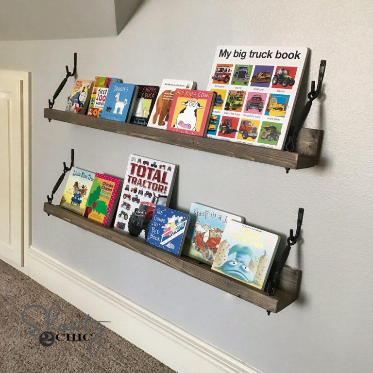 DIY $10 Turnbuckle Shelf
