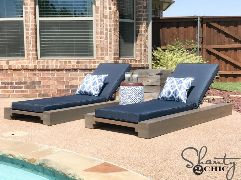 Diy Outdoor Lounge Chair And How To Video Shanty 2 Chic