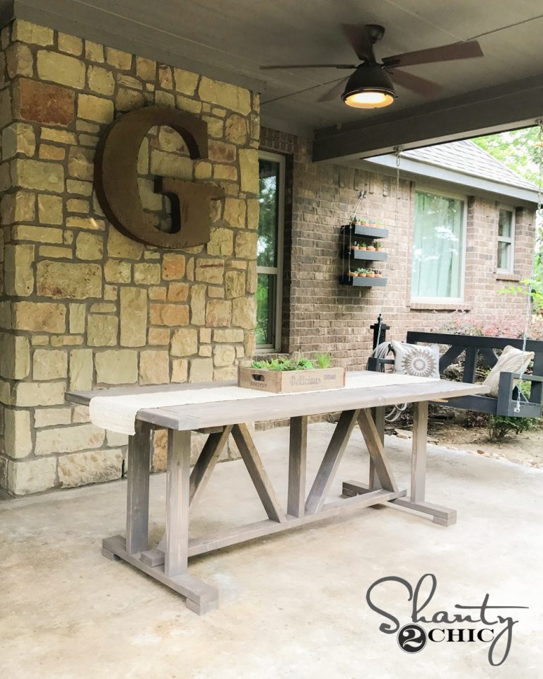 Diy 60 Outdoor Dining Table Shanty 2 Chic