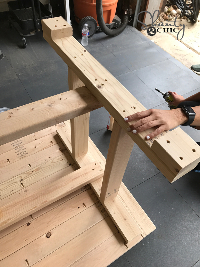 DIY $60 Outdoor Dining Table