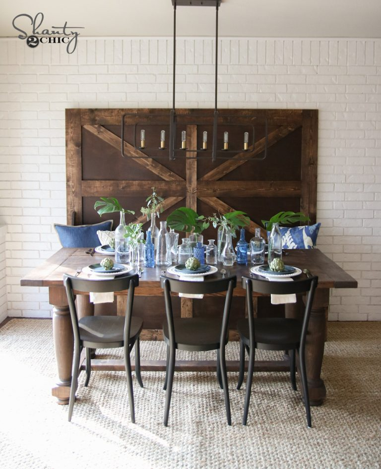 Super Diy Turned Leg Farmhouse Dining Table Shanty 2 Chic Home Remodeling Inspirations Propsscottssportslandcom
