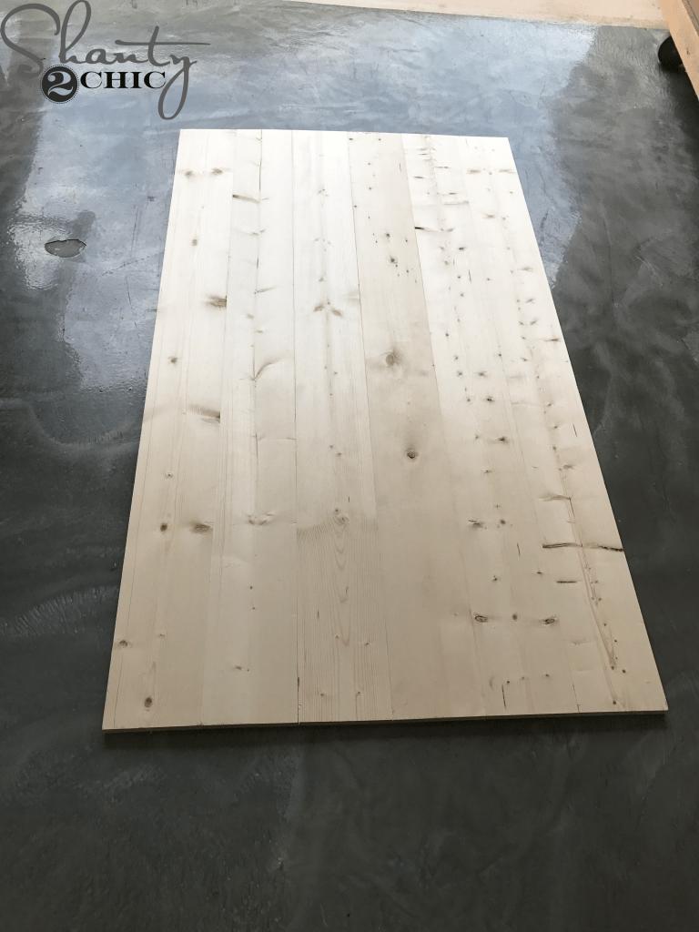 DIY Planked Headboard
