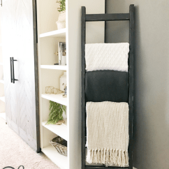 How Much To Paint Living Room Beach Style Designs Diy $7 Rustic Blanket Ladder - Shanty 2 Chic