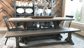 Astounding Diy Fancy V Dining Bench Shanty 2 Chic Pabps2019 Chair Design Images Pabps2019Com
