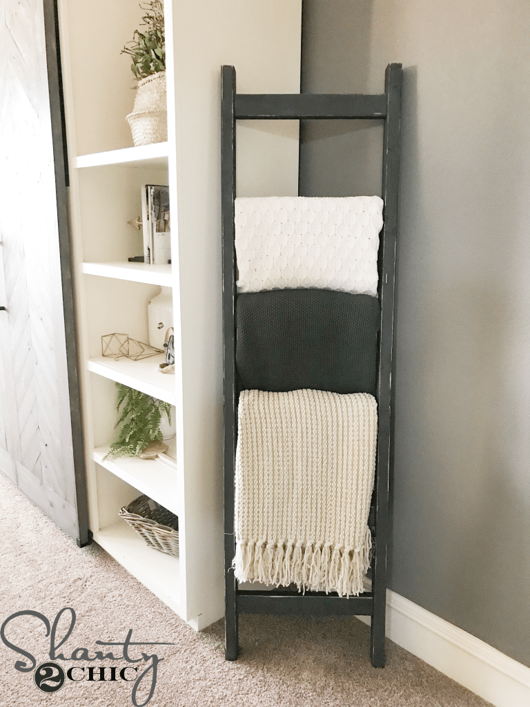Diy 7 Rustic Blanket Ladder Shanty 2 Chic