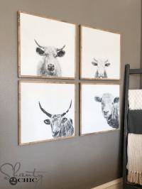 DIY Cow Wall Art - Shanty 2 Chic