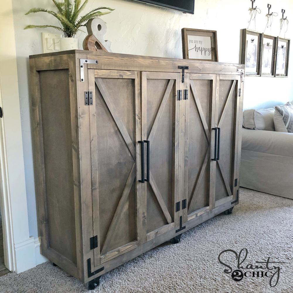 Diy Farmhouse X Storage Cabinet Shanty 2 Chic