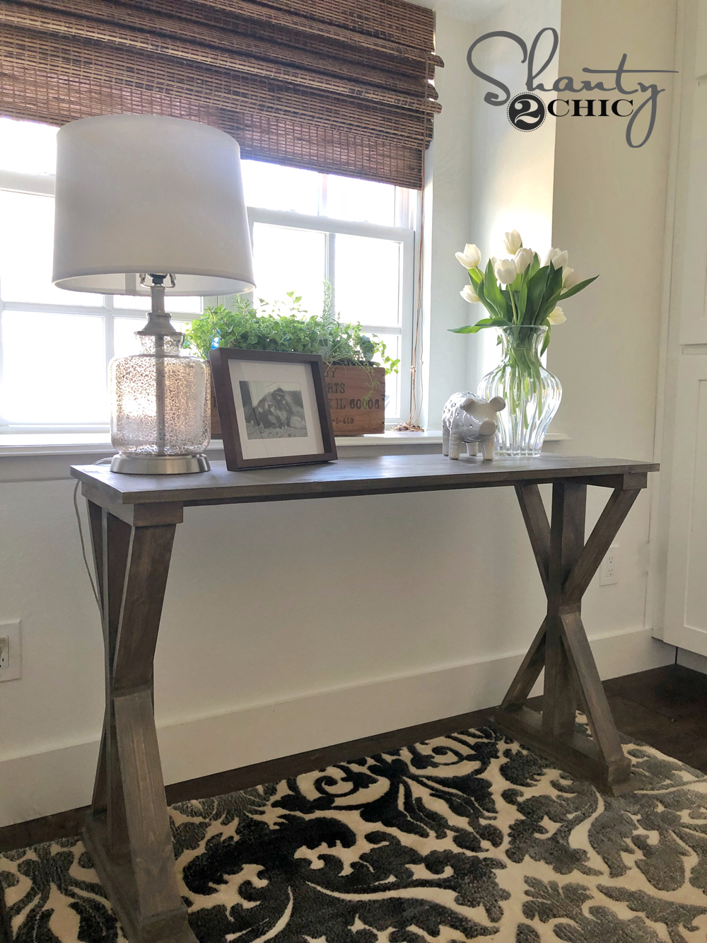 DIY 6 Board Farmhouse Desk
