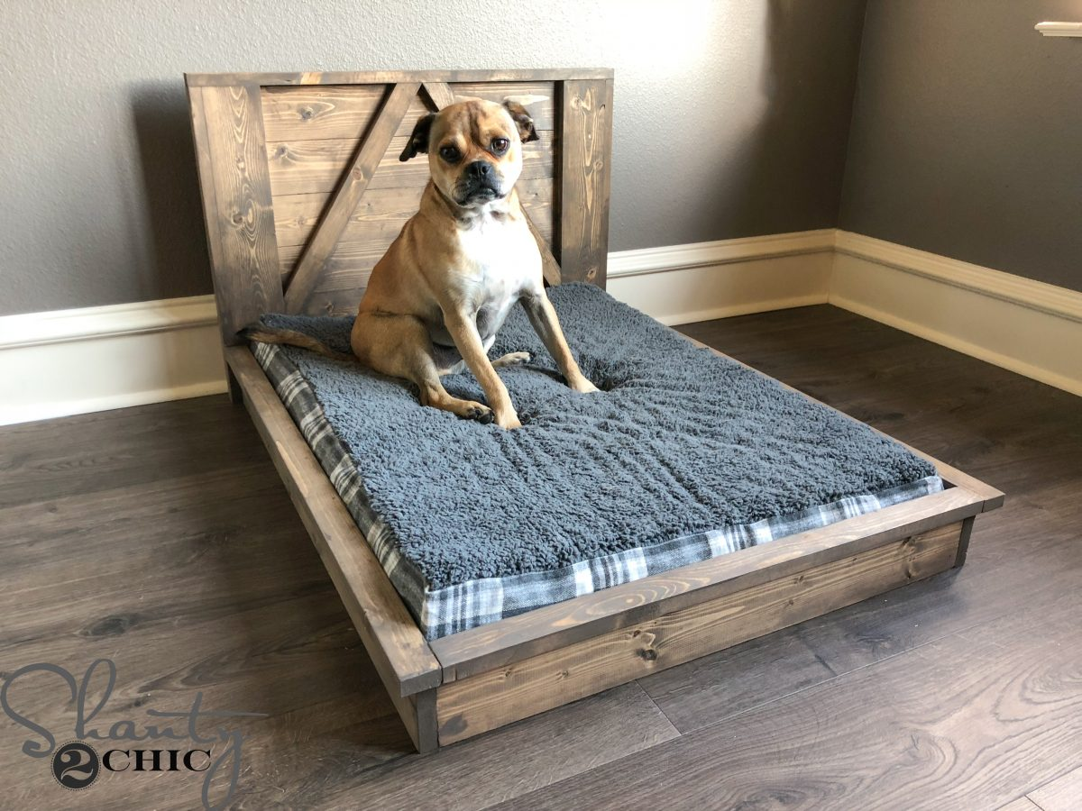 Diy Farmhouse Dog Bed For Mans Best Friend Shanty 2 Chic