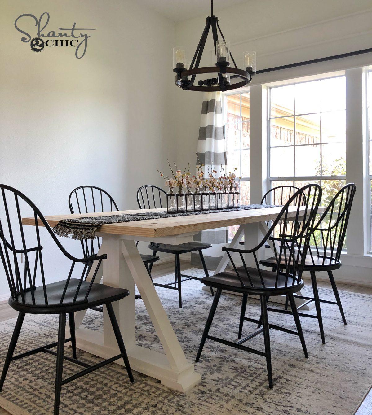 Diy Modern Farmhouse Dining Table The Leasha Table Shanty 2 Chic