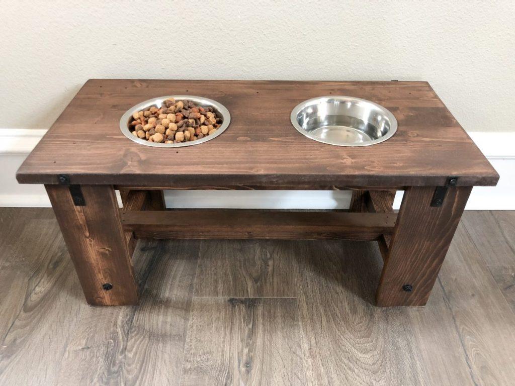 DIY Dog Bowl Stand - farmhouse dog bowl