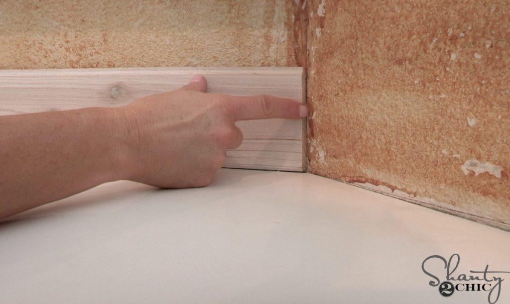 DIY Driftwood Backsplash