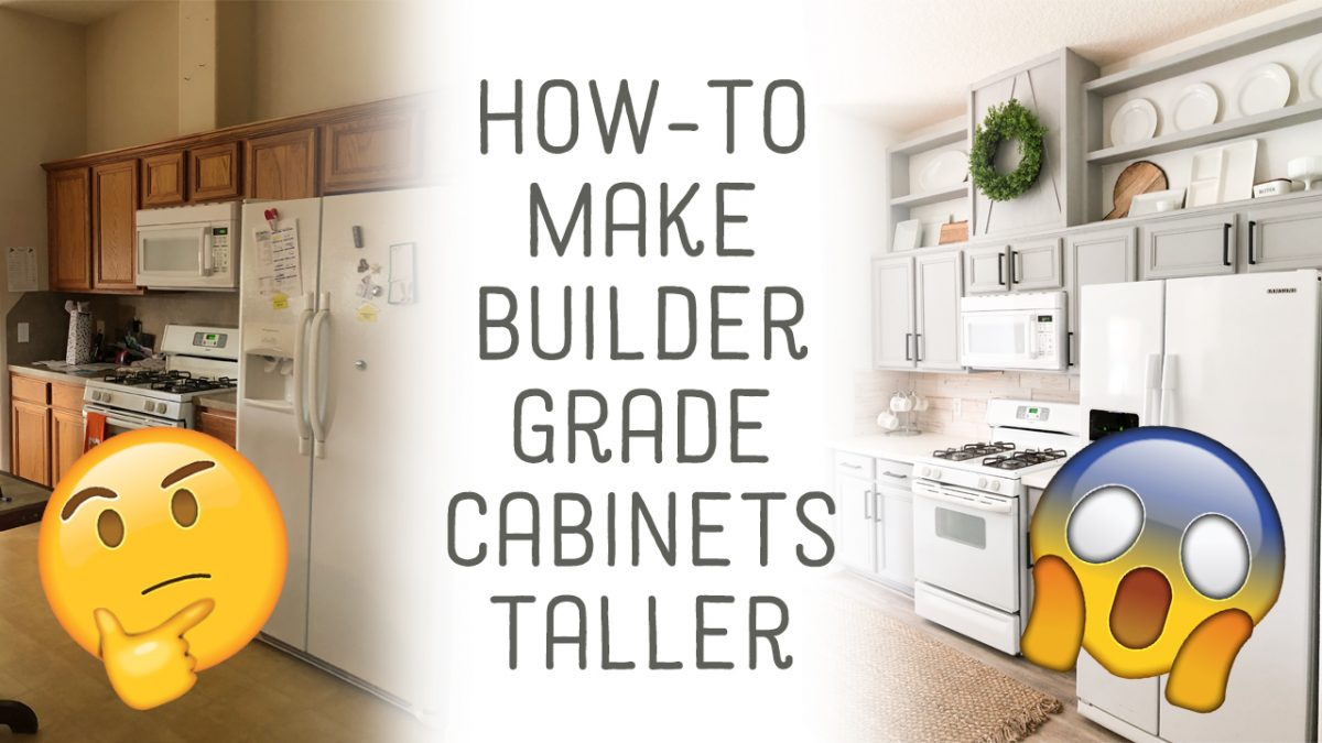 How To Make Cabinets Taller Free Plans Amp Video Tutorial