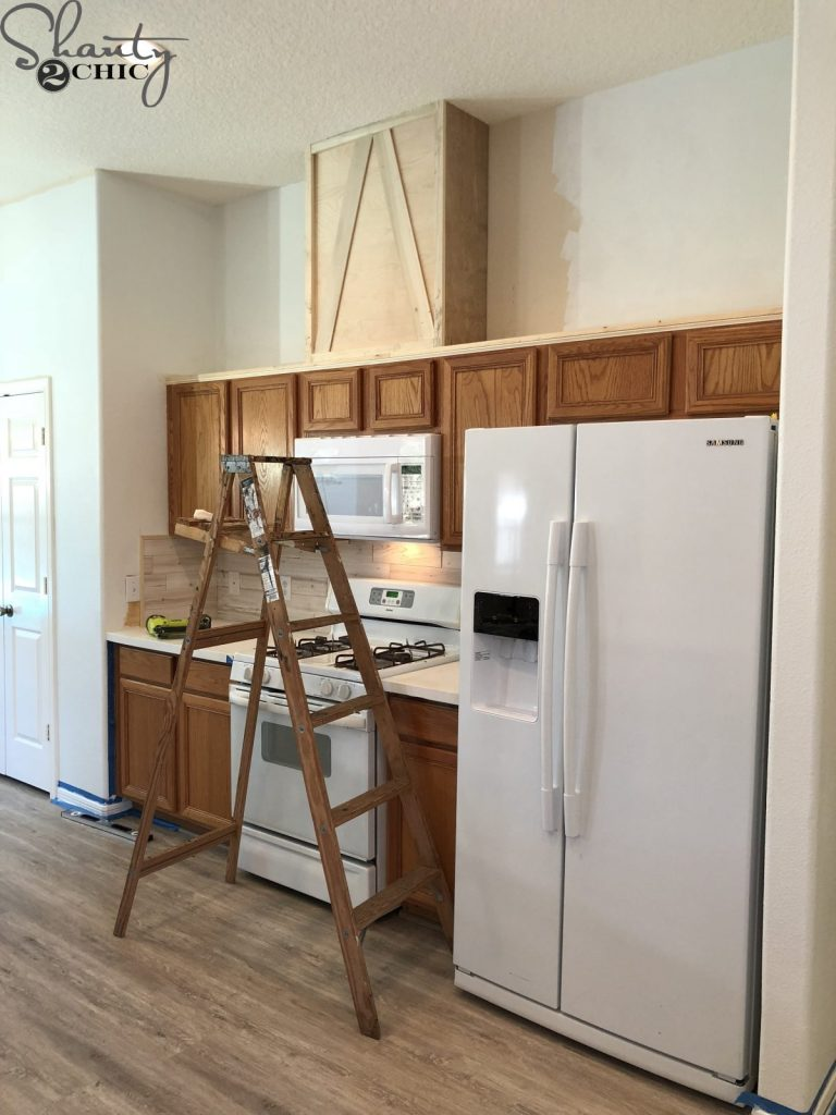 How to Make Cabinets Taller - The Hood Cabinet