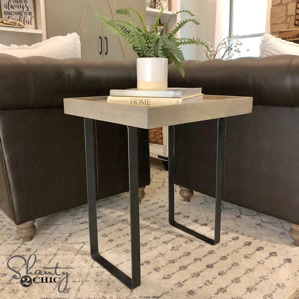 DIY Modern Rustic End Table