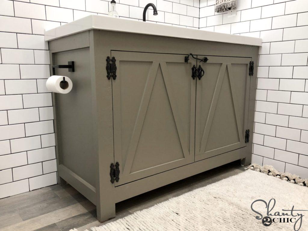 DIY Modern Farmhouse Bathroom Vanity
