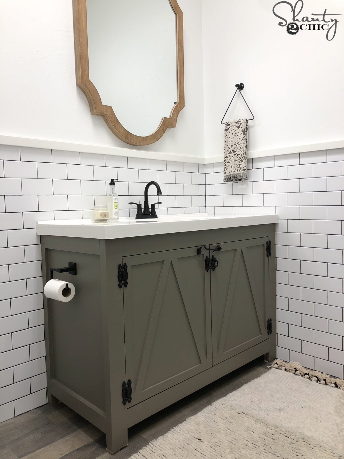 Diy Modern Farmhouse Bathroom Vanity Shanty 2 Chic