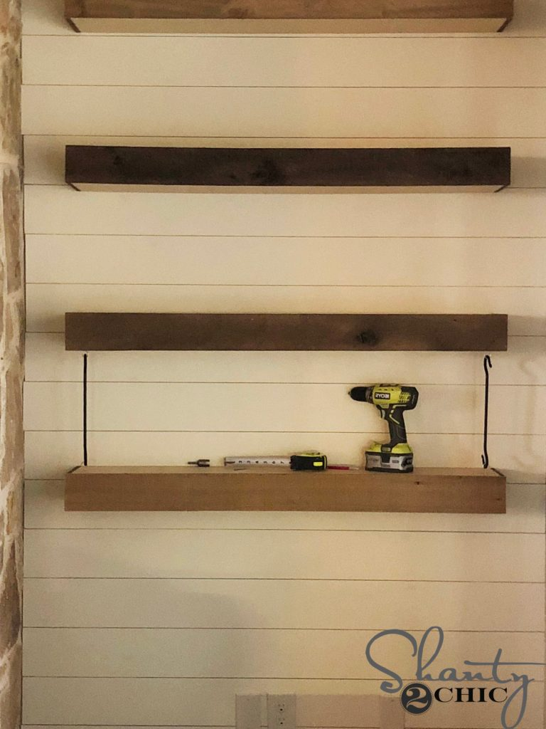 DIY Floating Shelves with Hardware