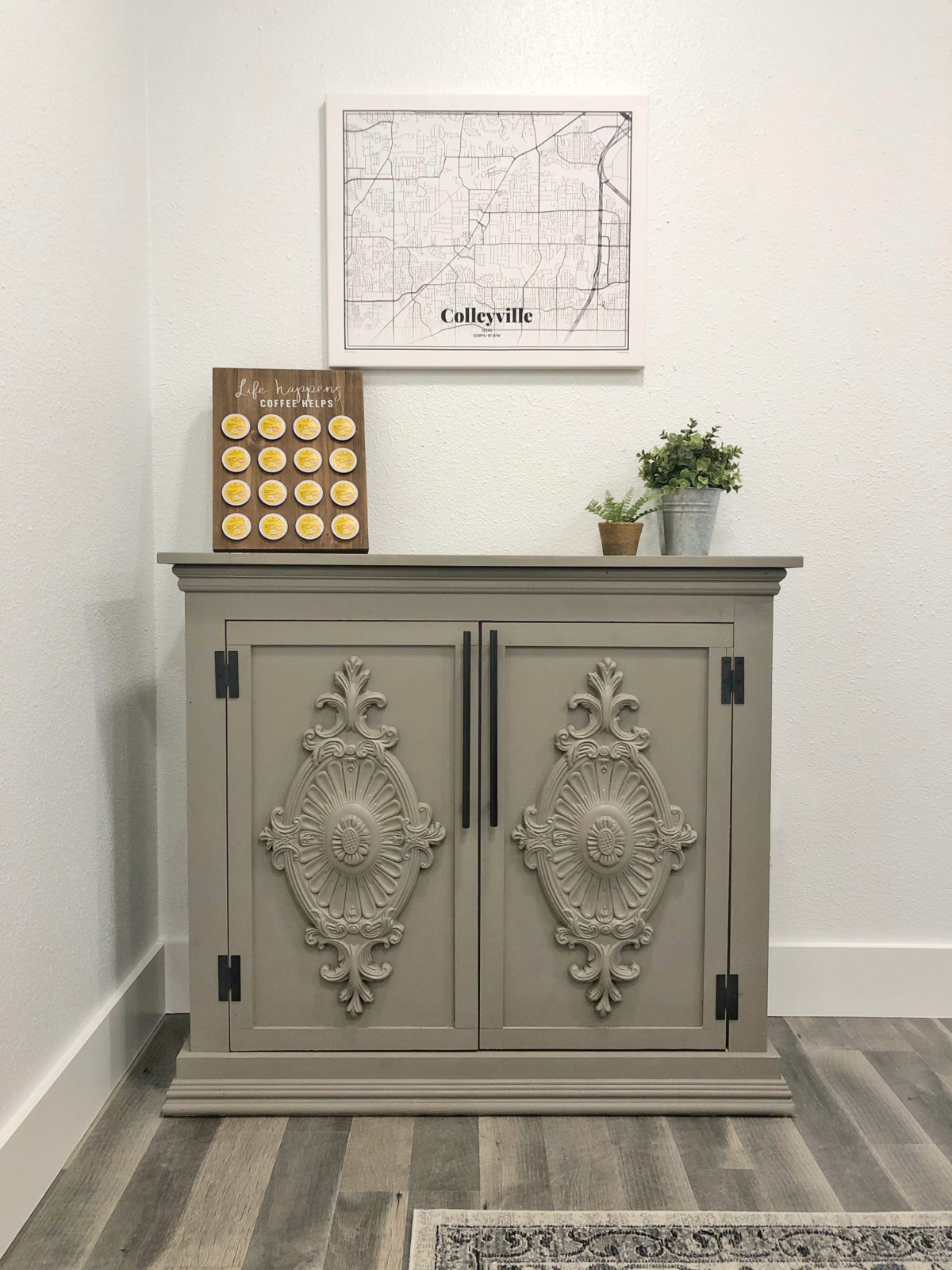 DIY Fancy Farmhouse Console