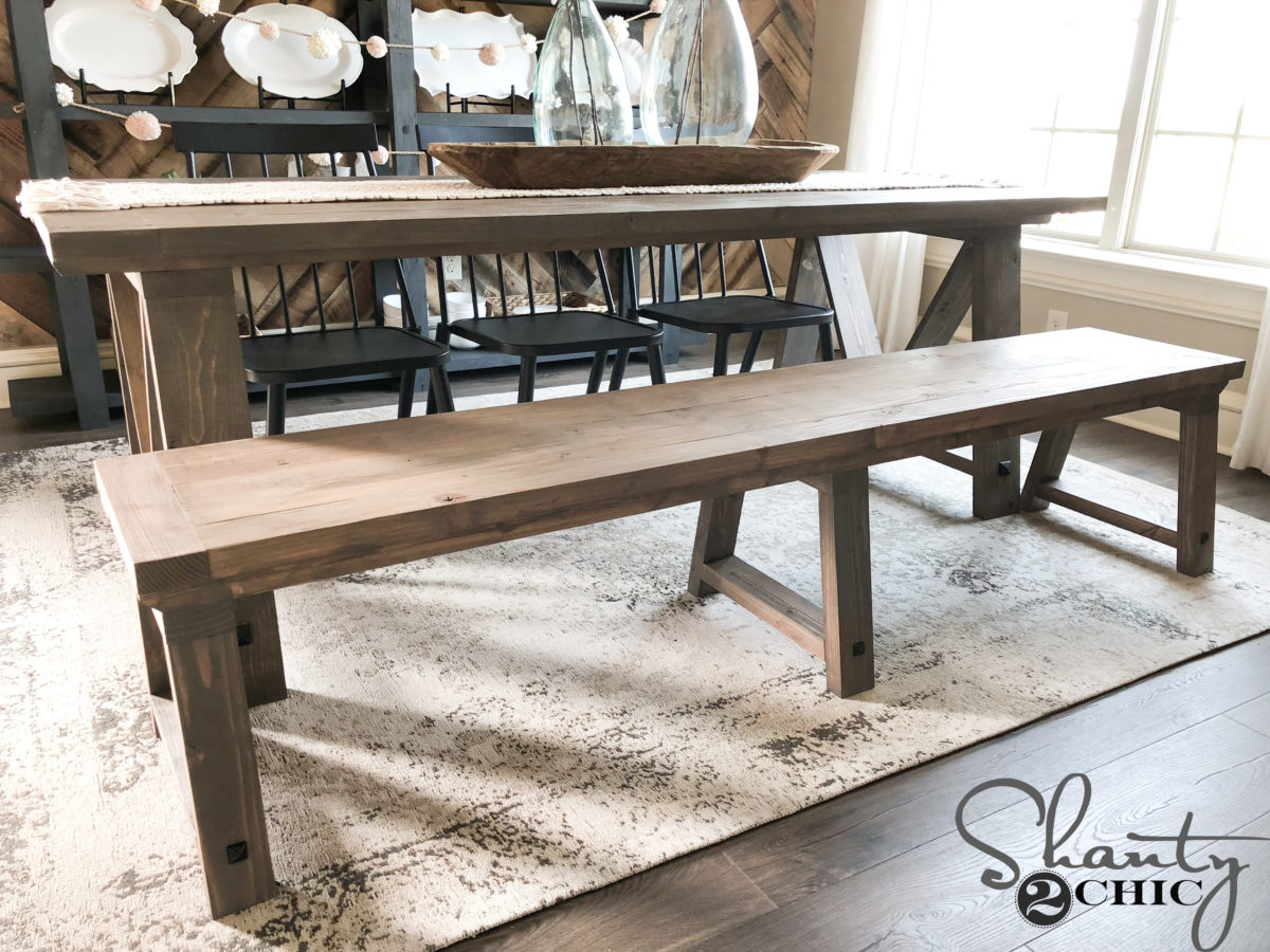 Outstanding Diy Fancy V Dining Bench Shanty 2 Chic Beatyapartments Chair Design Images Beatyapartmentscom