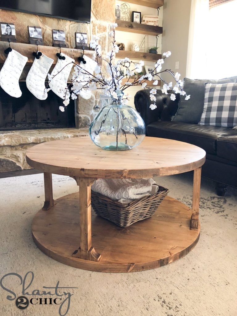Coffee Table Plans.Diy Round Coffee Table Shanty 2 Chic