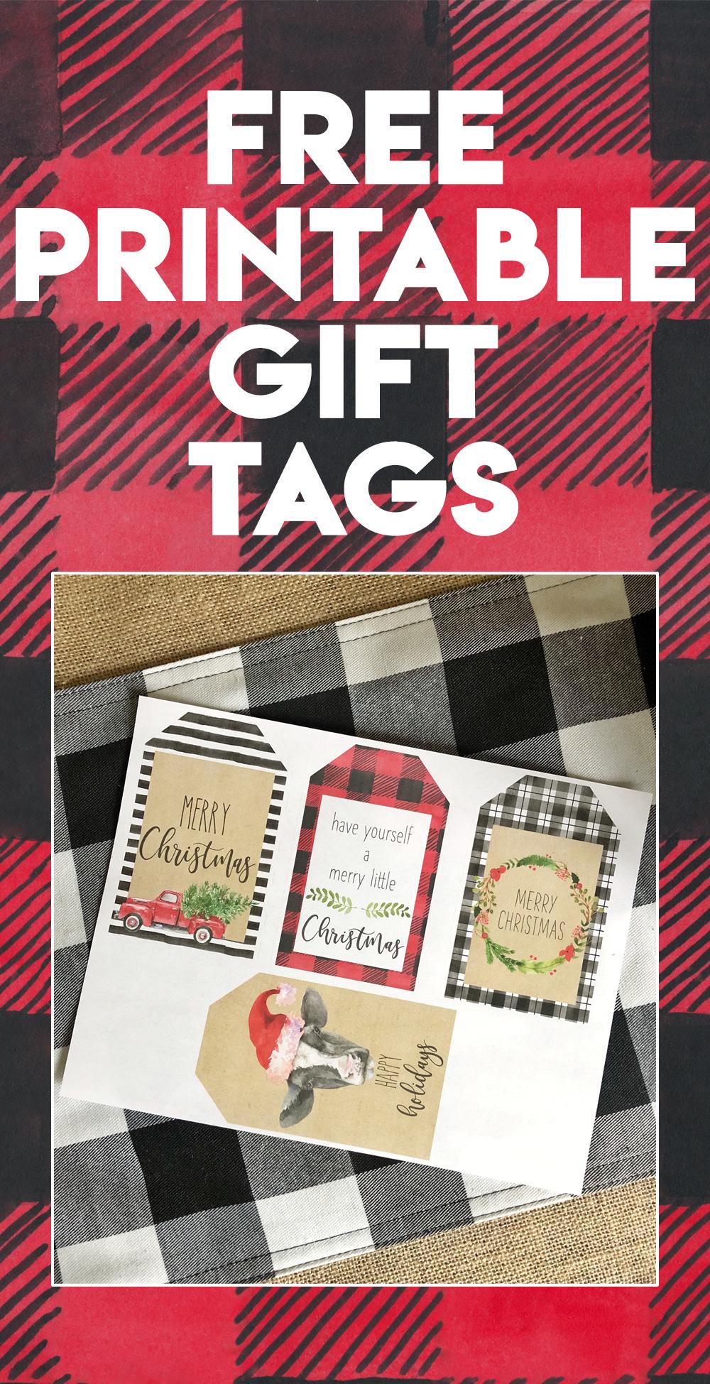 photograph about Printable Christmas Name Tags called Totally free Printable Xmas Reward Tags - Shanty 2 Stylish